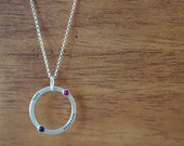 Lovers Birthstone Necklace (E0340)