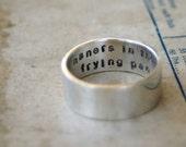 Secret Message Ring Sterling Silver (E0250)
