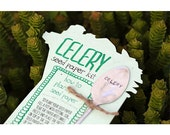 Celery Plantable Seed Paper with Silverware Garden Marker (E0358)