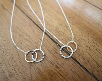 Personalized Silver And Gold Filled Infinity Necklace (E0646)