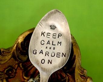 Keep Calm Spoon Plant Garden Marker (E0203)