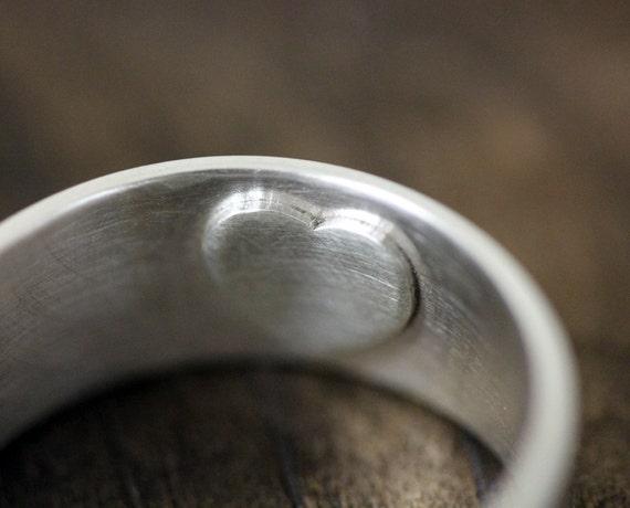 Secret heart wedding ring E0249