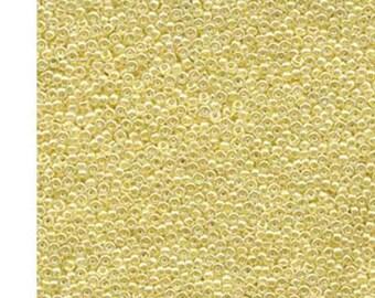 10g Amarillo Forrado AB Cristal 273.. Miyuki Cuentas japonés-tamaño 11..