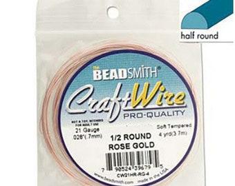 Sterling Silver Wire 21/gauge Round Half hard Qty = 5/metri