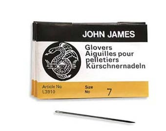 John James Glovers Needles Size 7 43609 Size 7 Leather Needles, Glovers Bulk Pack Needle, Craft Needles, John James Needle L3910