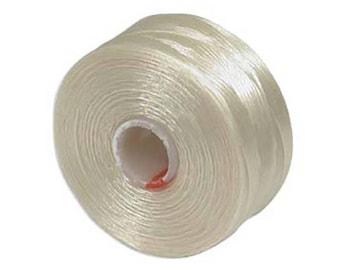 Size AA White Black Cream Gold S-lon Beading Thread Mixture 43770 4 bobbins
