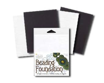 Bead Backing Economy Bead Embroidery Foundation 6 x 8 x 6 pieces White