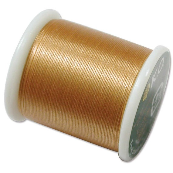 K.O Beading Thread Natural Japanese Bead Thread 43322 55yd Nylon Waxed KO