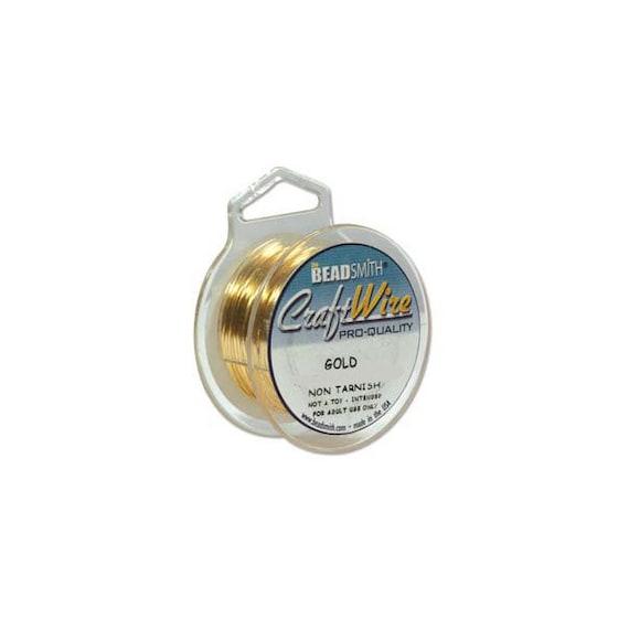 Half Round 21GA Beadsmith Champagne Gold Color Non Tarnish Wire 4 Yrds