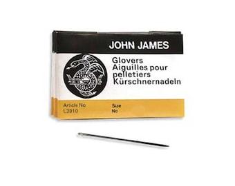 John James Glovers Needles Size 9 43610 Size 9 Leather Needles, Glovers Bulk Pack Needle, Craft Needles, John James Needle L3910