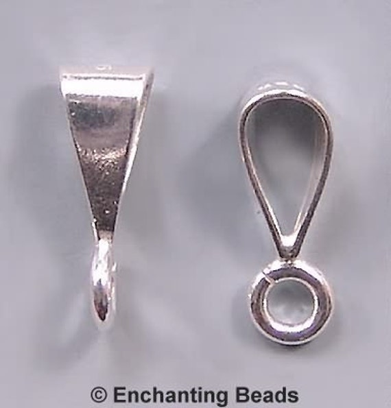 Brand New .925 Sterling Silver Strong Pendant Bail With Open Loop Findings