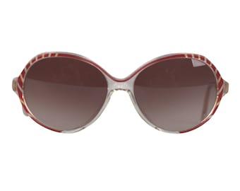 0c25ca4c65f2 Authentic BALENCIAGA Vintage Womens MINT SUNGLASSES 2708 br 55 16 red w   stripes