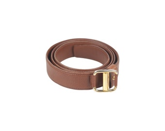 3b0879f50f72 Authentic Valentino Garavani Vintage Brown Leather Belt Size 90