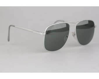5d4e42a85e Authentic Ronson Vintage Aviator Sunglasses Mineral Glass Mod. 671 New Old  Stock