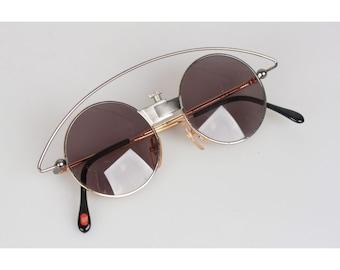 dd21793e40361 Authentic Casanova Vintage Rare Round Mint Sunglasses MTC 3 Gold Plated 24K  48mm