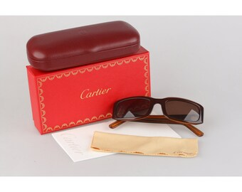 e647c9f719d Authentic Cartier Paris Vintage Brown Women Small Mint Sunglasses Mod.  T8200319