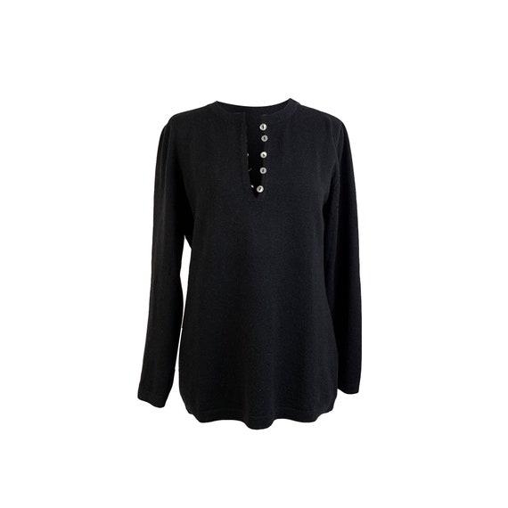 Authentic De Carlis Roma Vintage Black Cashmere Ju