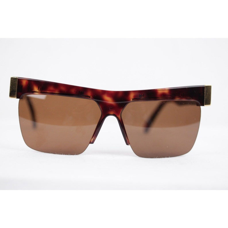 46520948b5 Authentic Gianni Versace Vintage Gold Brown Unisex Sunglasses