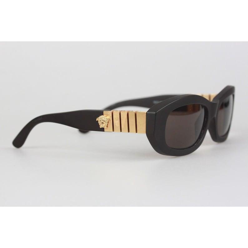 b73d424e41 Authentique Gianni Versace Vintage Mint marron lunettes de | Etsy