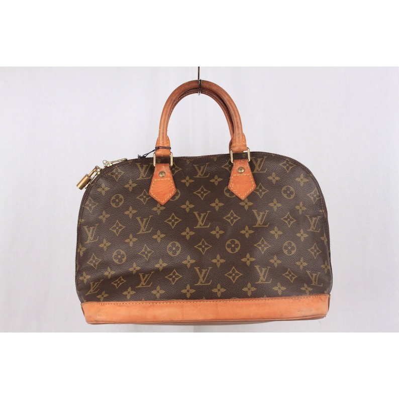 ad3d31560ad6 Authentic Louis Vuitton Vintage Brown Monogram Canvas Alma Top