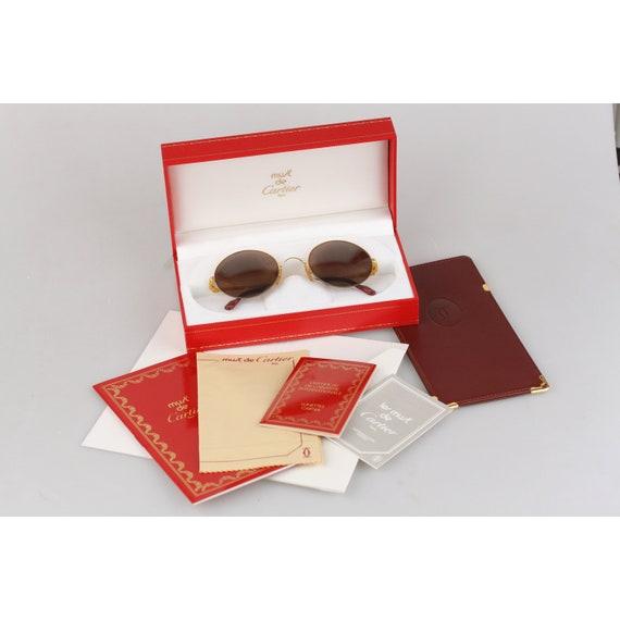 Authentique Cartier Paris Vintage rondes lunettes de soleil   Etsy 6da2620074a7