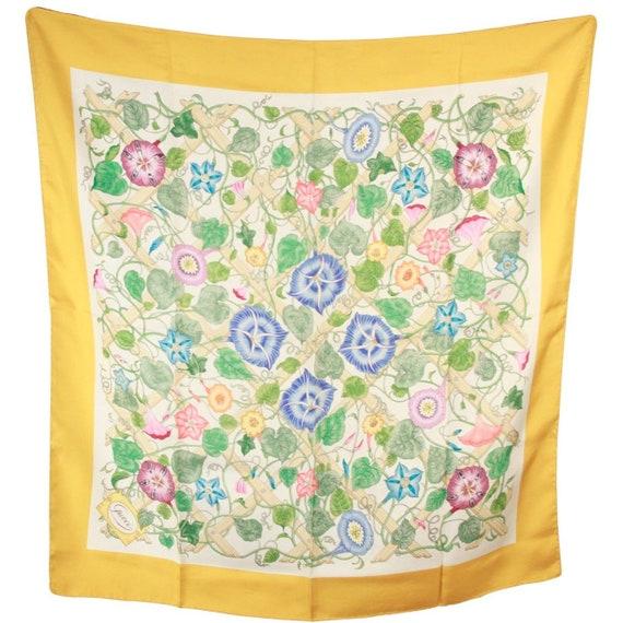 d146e77f297f Authentique GUCCI Vintage foulard de soie Floral Accornero   Etsy