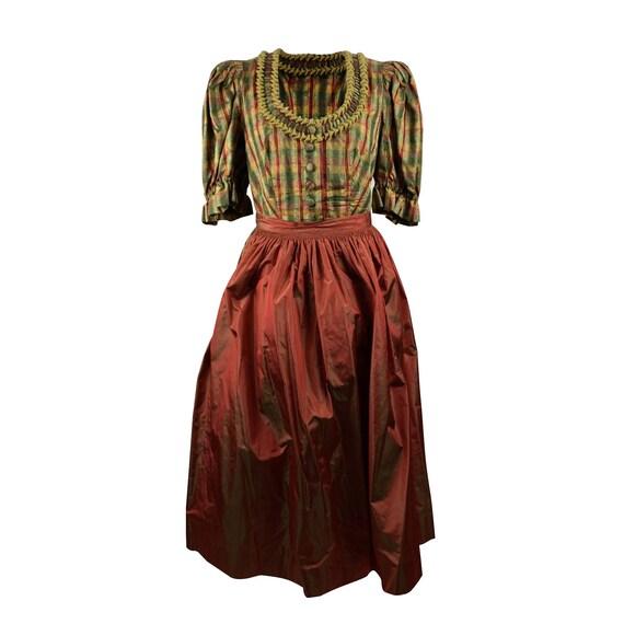 Authentic Vintage Checkered Silk Tyrolean Dobby Mi