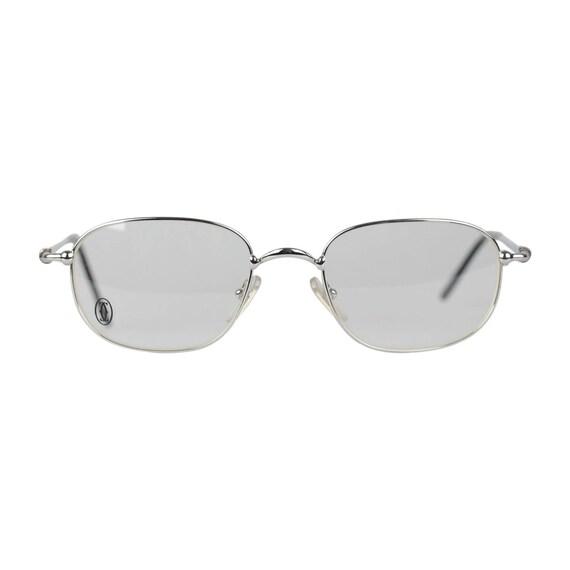 Authentique CARTIER Paris Vintage lunettes VESTA Silver Frame   Etsy 1c85eedad798