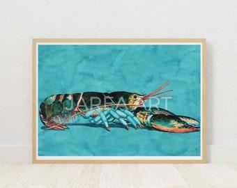 Lobster Watercolour St. Andrews New Brunswick Print
