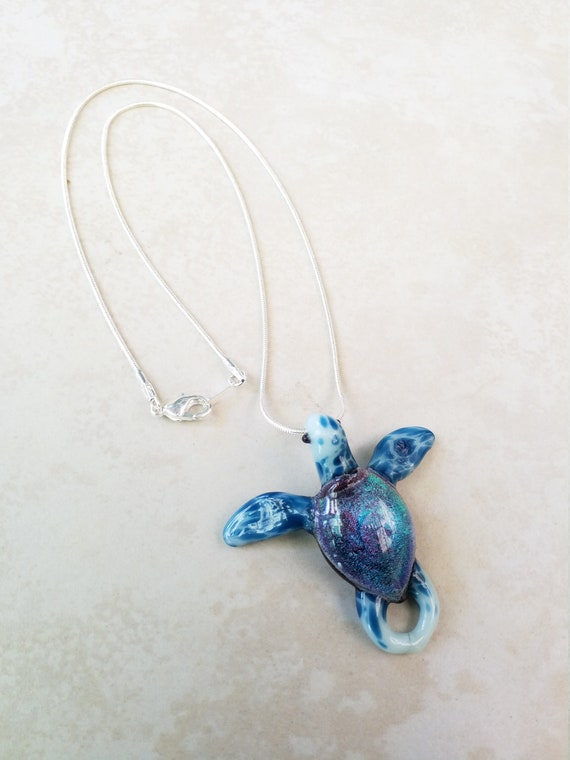 Sea Glass Turtle Pendant Set,Seachangeables,Sea Turtle Pendant Set,Sea Turtle Earrings Sea Glass Pendant,