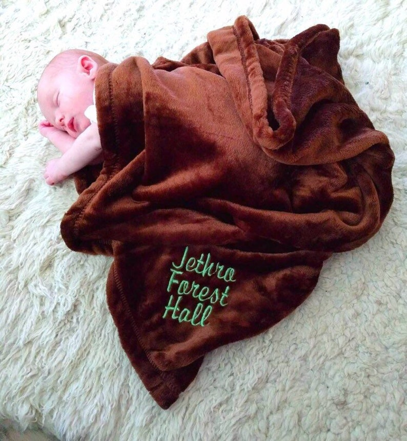 Receiving Blanket Personalized Baby Blanket Baby Animal Blanket Embroidered Baby Blanket Custom Color Blanket Custom Baby Blanket