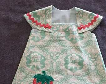 Strawberry Time!  Girls Easy Wear Summer Dress  - Sample Sale Pricing