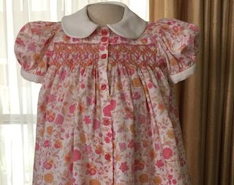 Beautiful Smocked Girls Dress - Sample Sale priced!