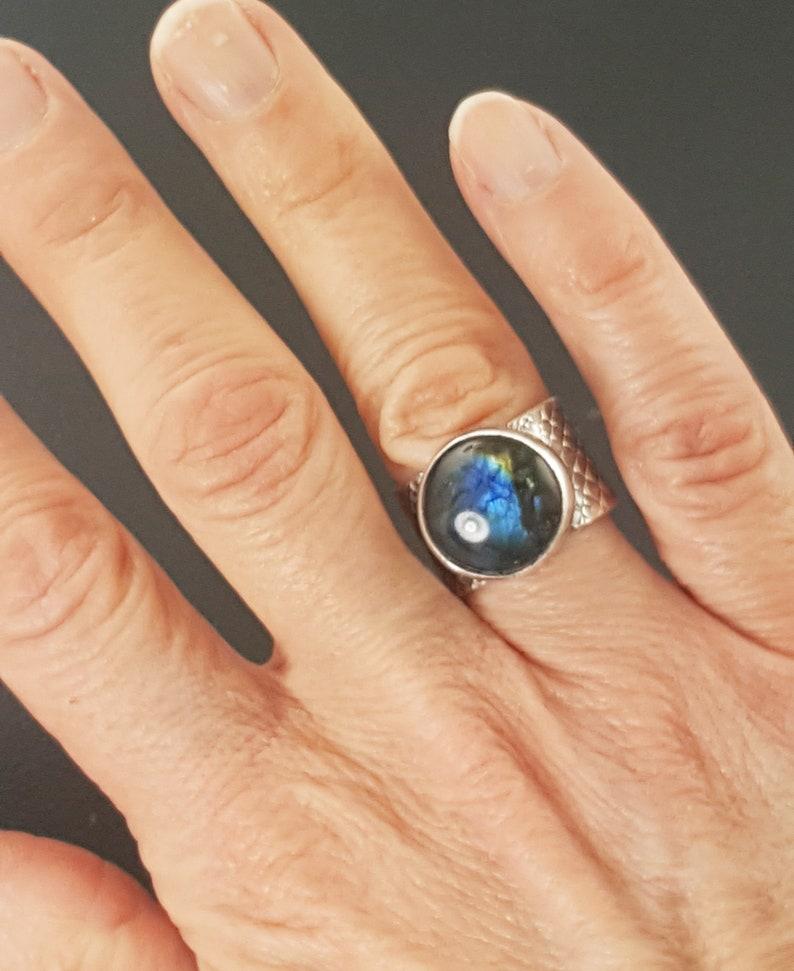 statement ring labradorite oxidized michelle grady michele grady labradorite jewelry size 8 ring Labradorite Ring ring band