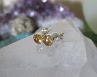 5mm Citrine and Sterling Posts/Studs