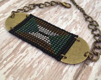 Modern Deco Beaded Bracelet