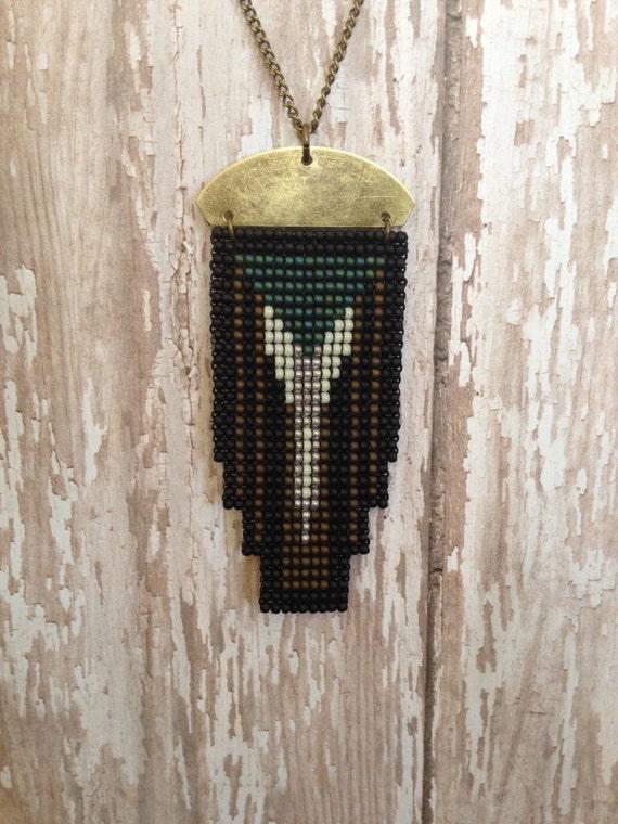 Moderne Deco Fensterscheibe Halskette   Etsy