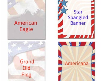 patriotic stationery etsy