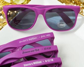 40 Personalized Purple Sunglasses Bridal Shower Wedding Favors