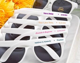 40 Personalized White Sunglasses Bridal Shower Wedding Favors