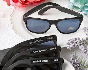 40 Personalized Black Sunglasses Bridal Shower Wedding Favors