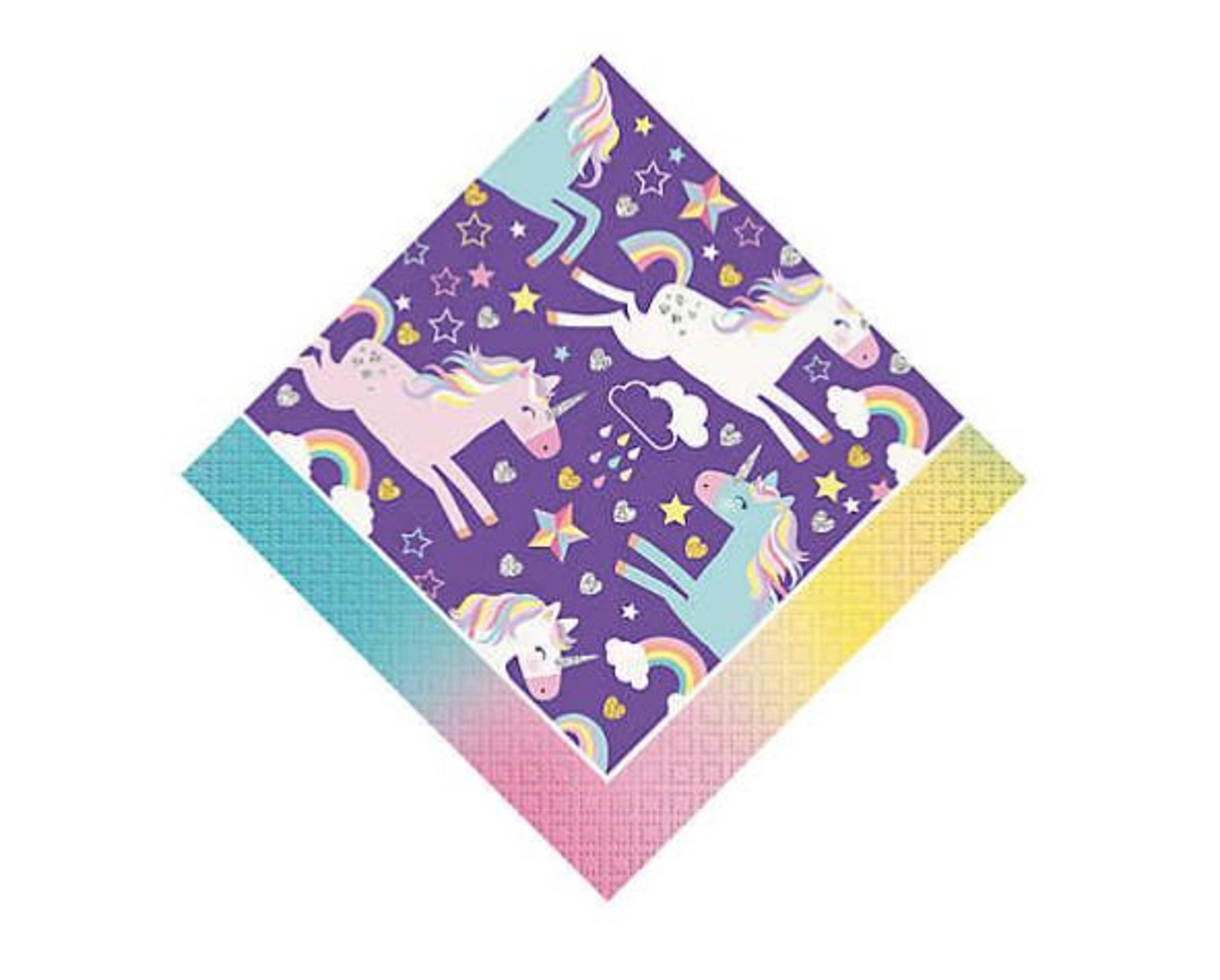 Unicorn Napkins for 16 Guests Page Two