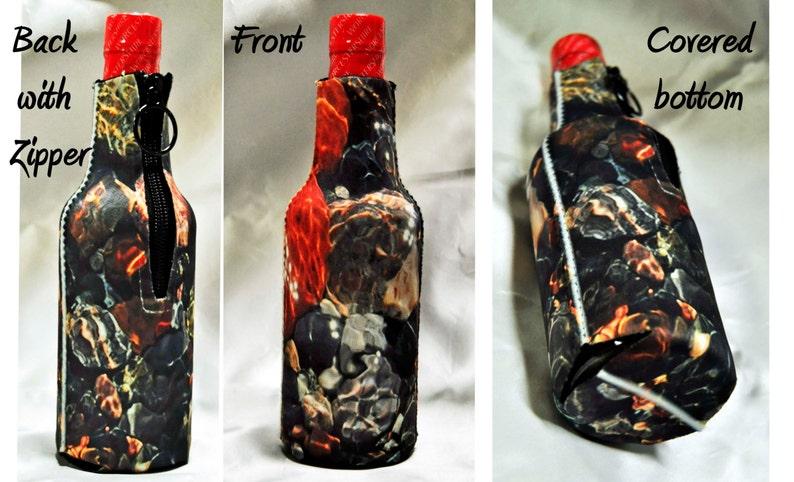 6 Custom photo cozies insulated beer soda 12 oz. bottle cozy image 0