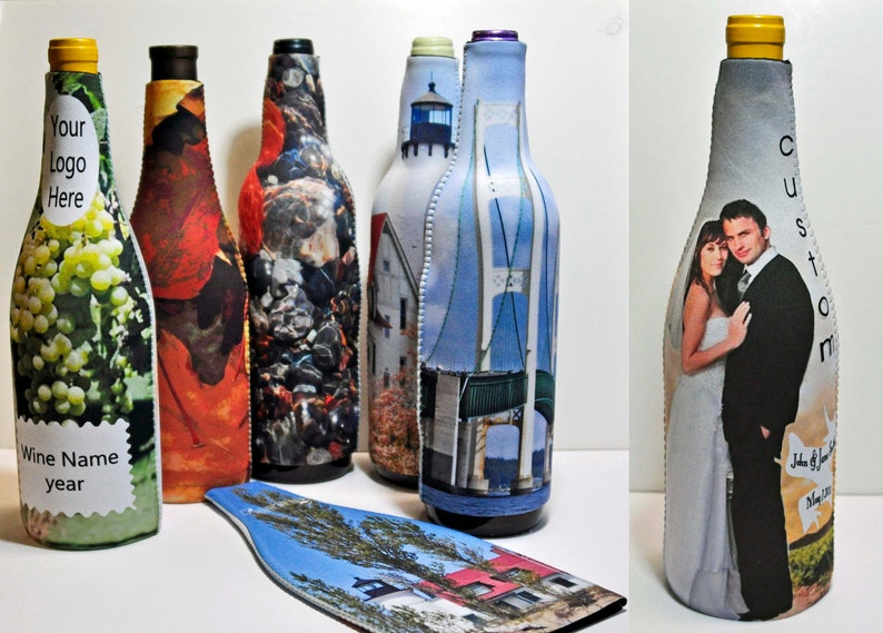 48 Custom wine bottle cozies personalized insulated covers image 0