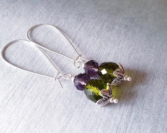 Thistle Earrings, Scottish Earrings, Scottish Gift, Scottish Wedding Jewelry, Bride Earrings, Crystal Earrings, Thistle Jewelry, Bride Gift