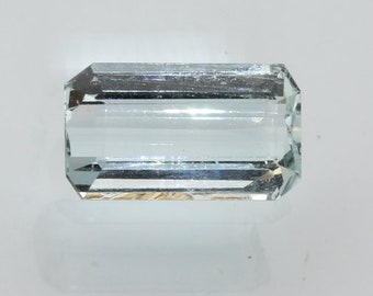 Aquamarine Light Blue Beryl 11.7x6.7 mm Emerald Cut Heat Only VVS Gem 2.59 carat