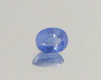 Cornflower Blue Ceylon Sapphire Faceted 6.4x5mm Oval I2 Clarity Gem 1.03 carat