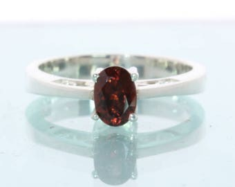 Burma Red Orange Spinel Handcrafted Silver Ladies Ajoure Filigree Ring size 7.75