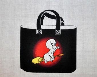 Reversible Casper the Friendly Ghost Wendy trick or treat Halloween tote bag