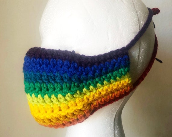 Rainbow Face Mask Crochet